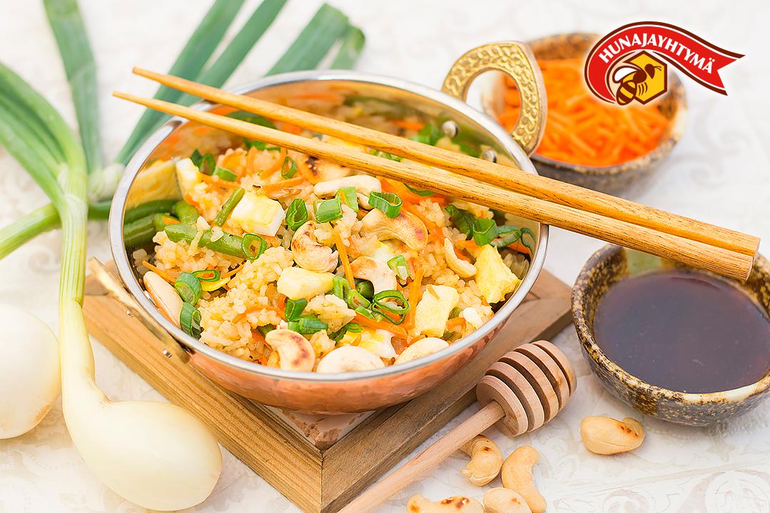 Hunajainen paistettu riisi