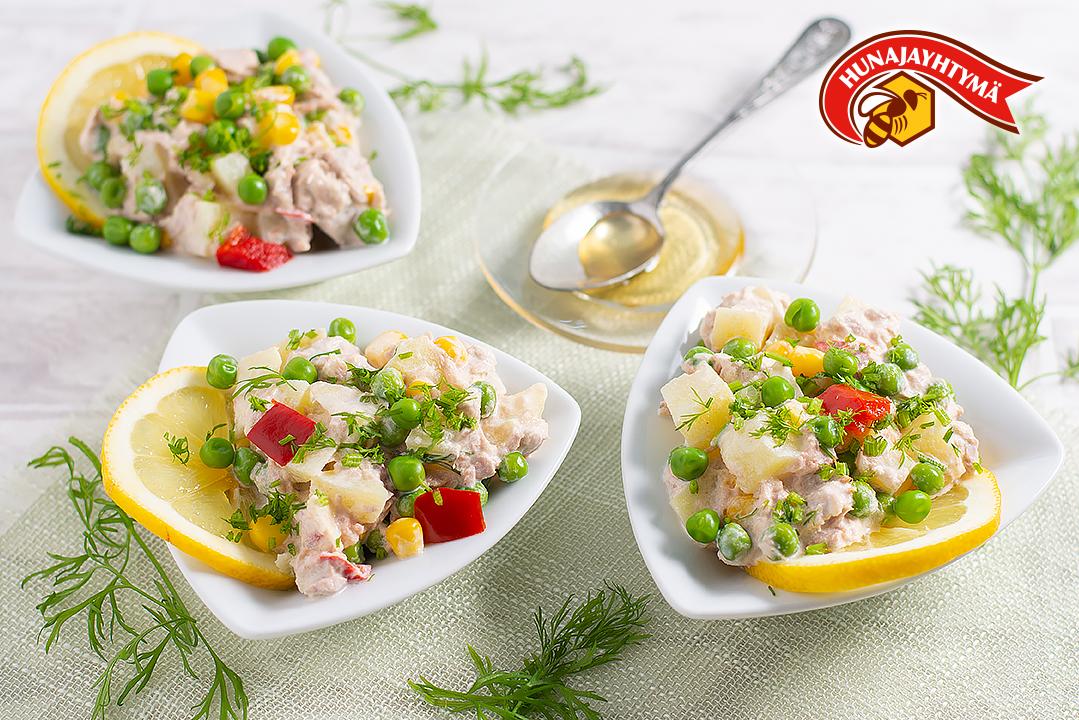 Hunajainen tonnikalasalaatti