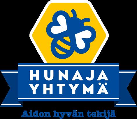 Hunajayhtyma-logo-pysty-tekstilla
