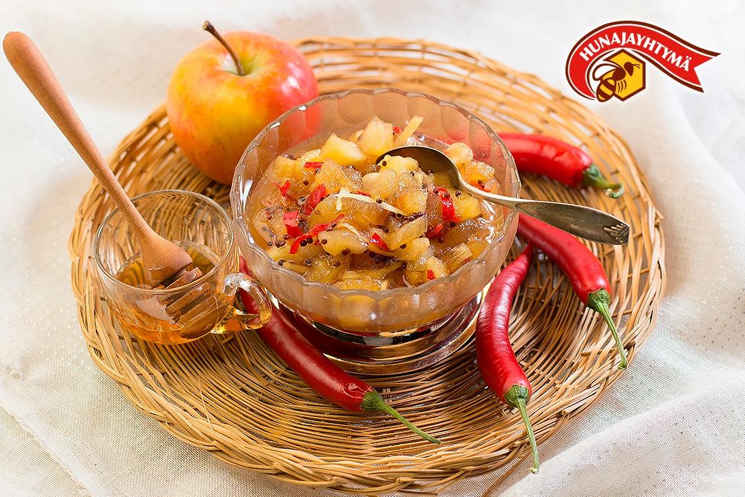Hunajainen omenachutney