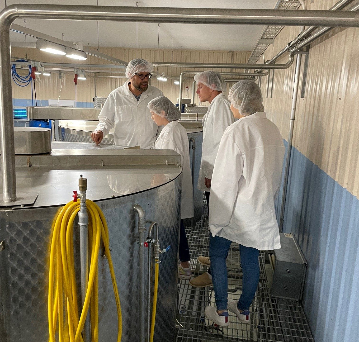 Hunajayhtymän vierailu tuotantotiloissa